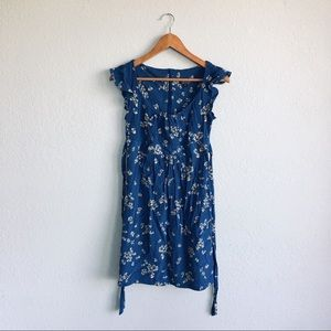 Topshop | Royal Blue Daisy Ruffle Sun Dress